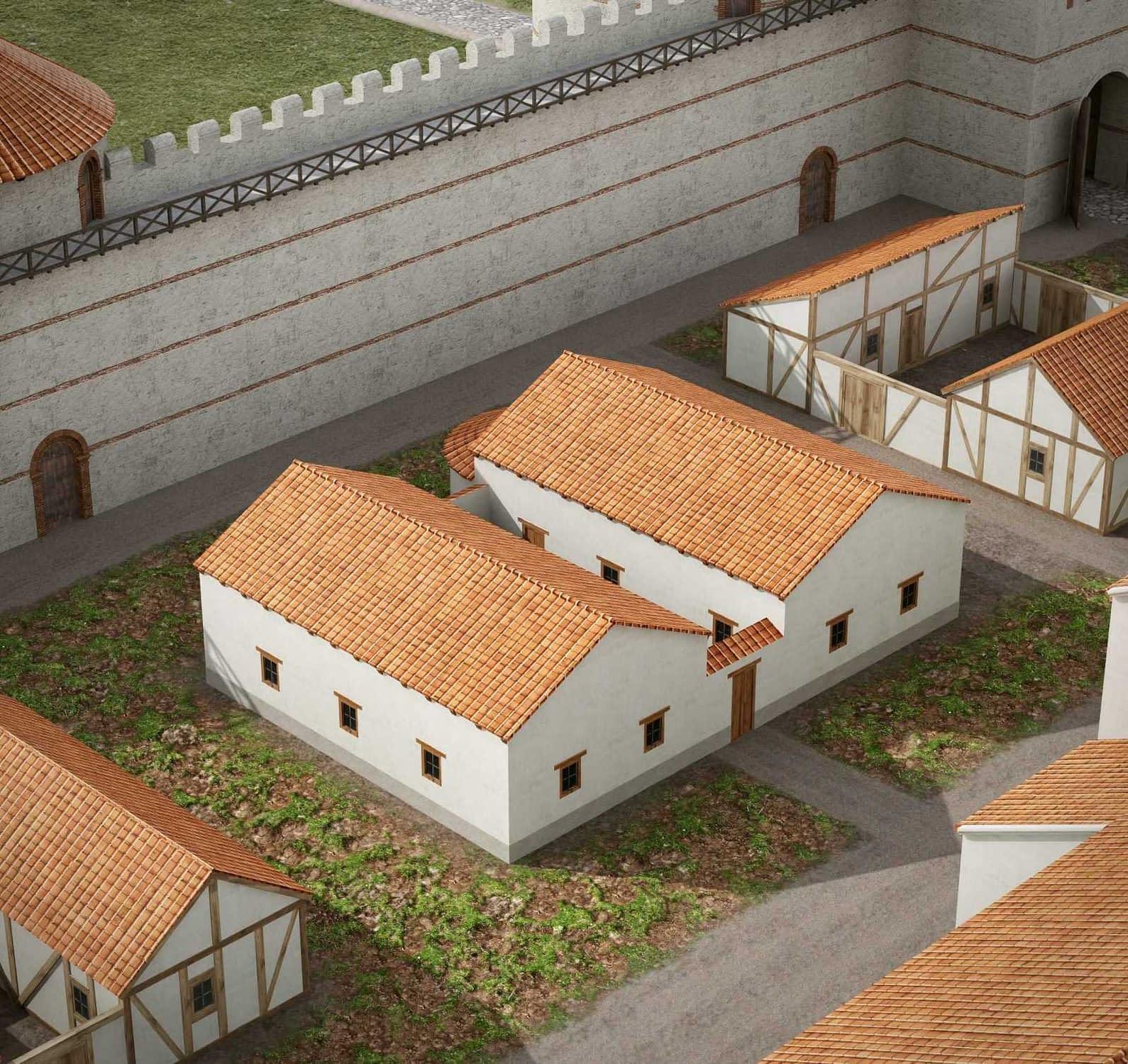 Lakó-és gazdasági épület (villa)