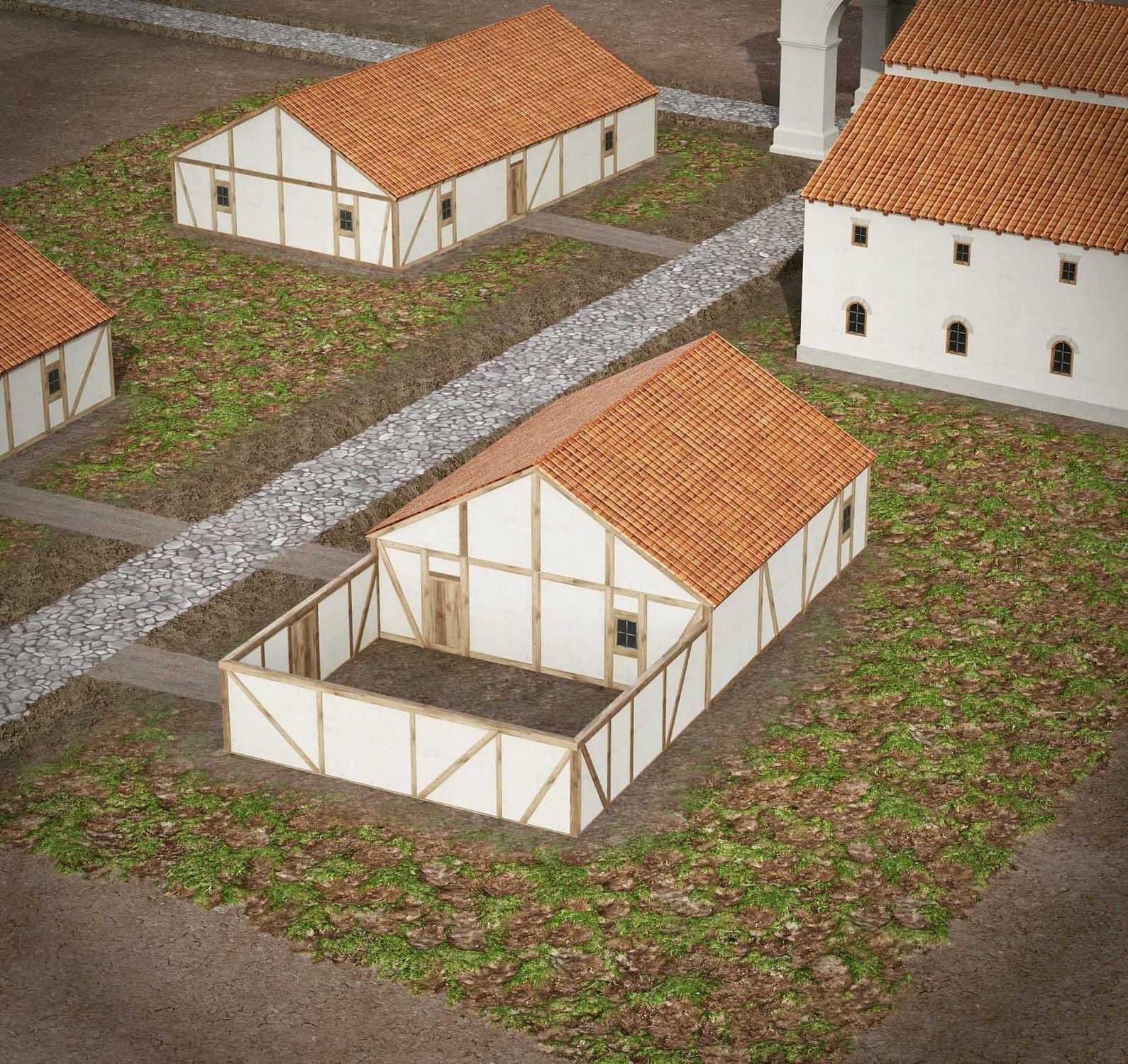 Lakó-és gazdasági épület