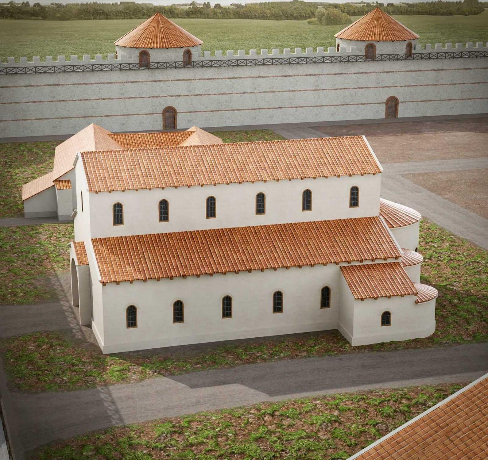 Lakóépület (1. fázis); kora keresztény bazilika (2.fázis?, 3. fázis)